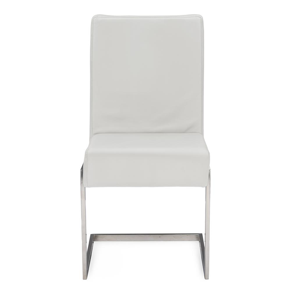 Toulan White Faux Leather Upholstered Dining Chairs