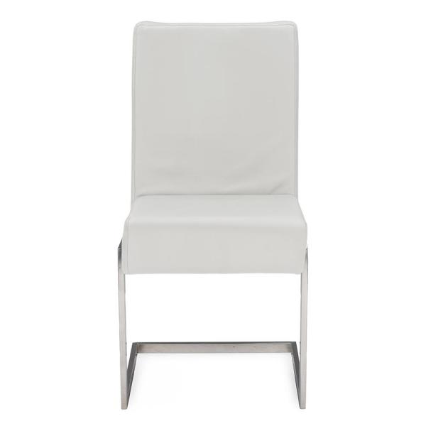 Baxton Studio Toulan White Faux Leather Upholstered Dining Chairs (Set of