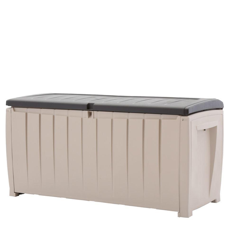 Novel 90 Gal. Deck Box in Brown