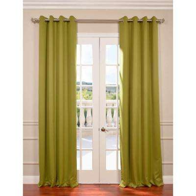 Semi-Opaque Moss Green Grommet Blackout Curtain - 50 in. W x 120 in. L (Panel)