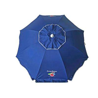 Tommy Bahama 6 ft. Steel Tilt and Sand Anchored Patio Umbrella in Navy Blue