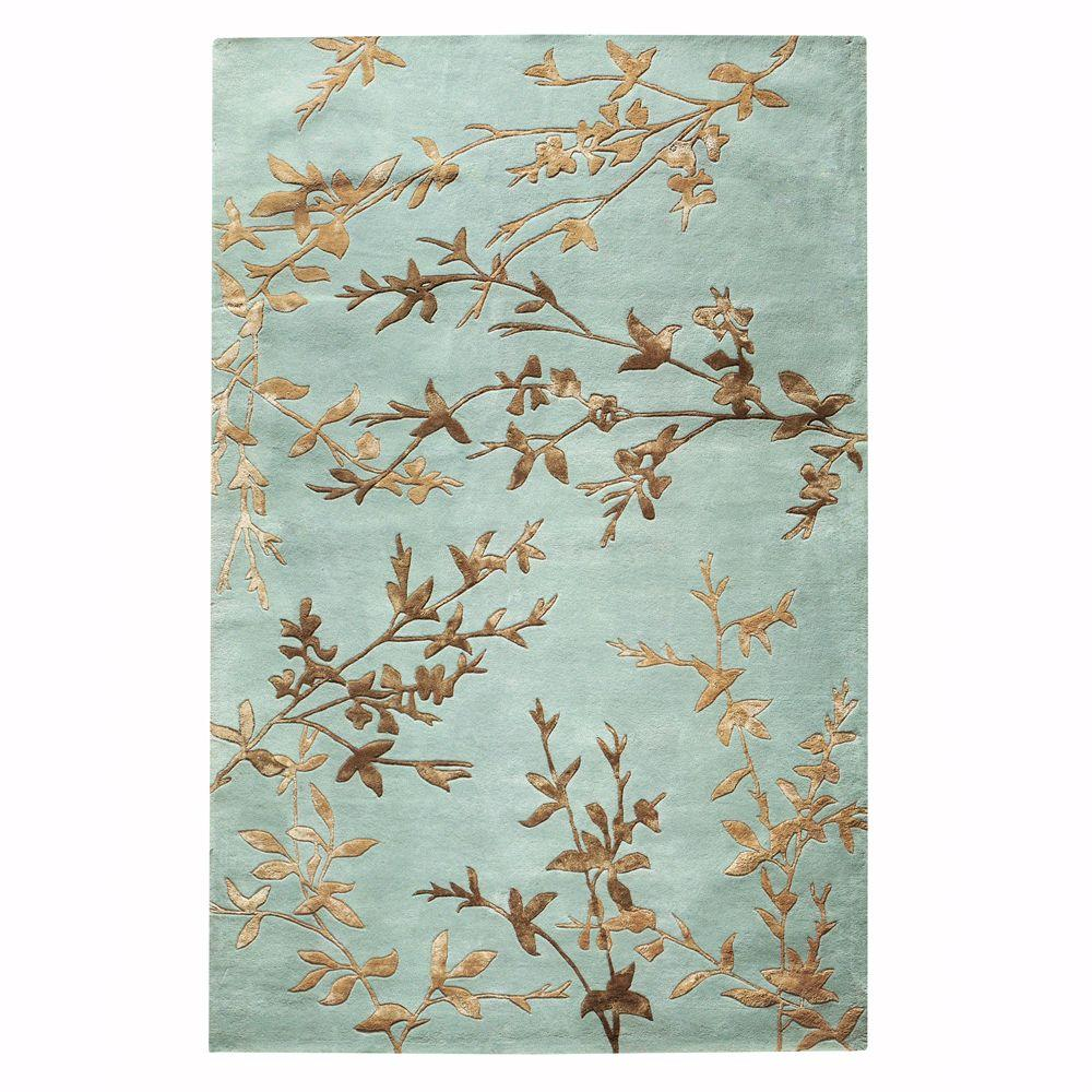 Home Decorators Collection Chaparral Blue 3 ft. 6 in. x 5 ft. 6 in. Area Rug