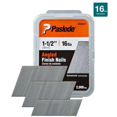 1-1/2 in. x 16-Gauge Galvanized Angled Nails (2000 per Box)