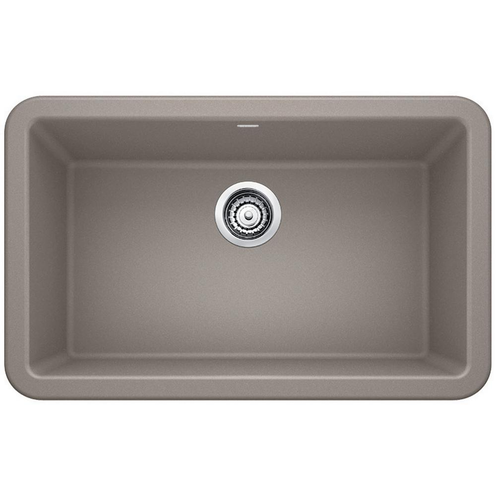 kitchen single bowl sinks blanco ikon apron front granite composite 29 in single 5610