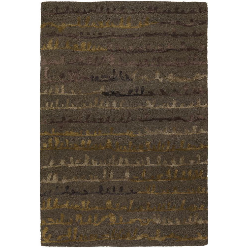 Navyan Brown/Taupe/Gold 5 ft. x 7 ft. 6 in. Indoor Area