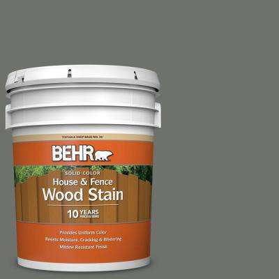 5 gal. #SC-131 Pewter Solid Color House and Fence Exterior Wood Stain