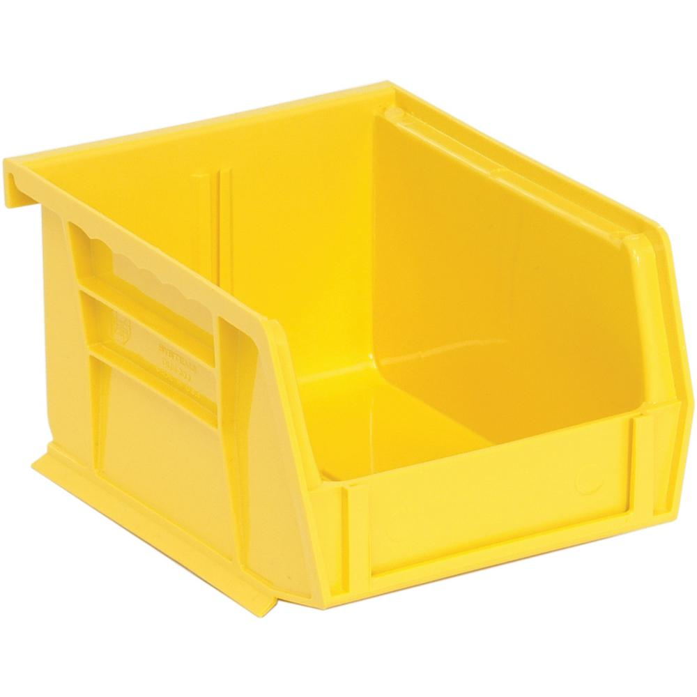 Ultra Series Stack and Hang 1 Gal. Storage Bin in Yellow