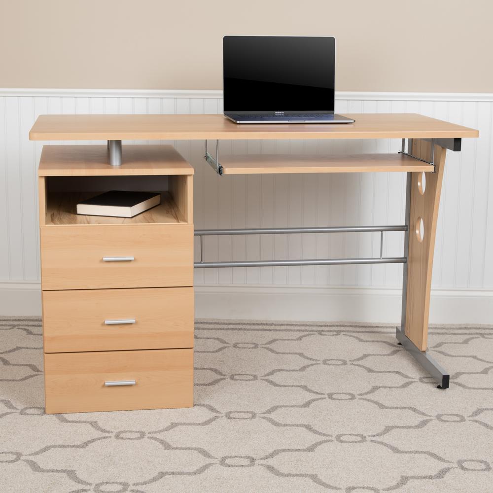 1-Piece Maple Computer Desk