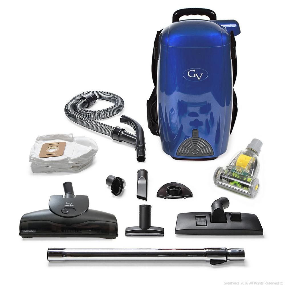 Gv Blue 8 Qt Light Powerful Hepa Backpack Vacuum Blower