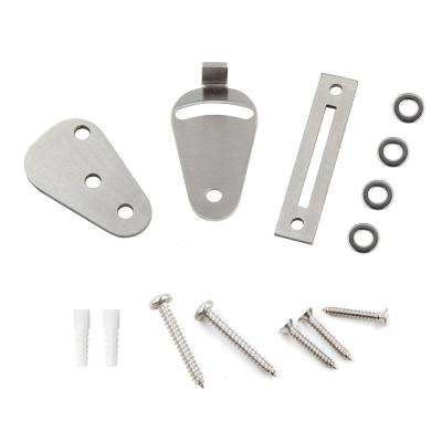 Stainless Steel Sliding Door Lock Kit Latch Lock (for Sliding and Hanging Track Systems)