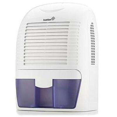 Ivation 1.25 Pint Mid-Size Thermo-Electric Dehumidifier Removes 20 oz. of Water per Day for Bathroom, Attic, Boat, RV