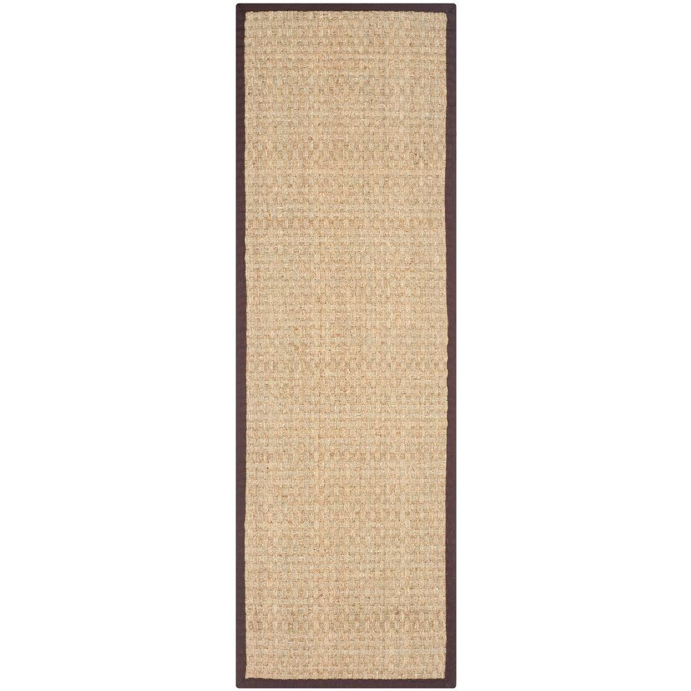 Natural Fiber Beige/Dark Brown 2 ft. 6 in. x 10 ft.