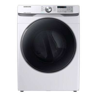 7.5 cu. ft. White Gas Dryer with Steam