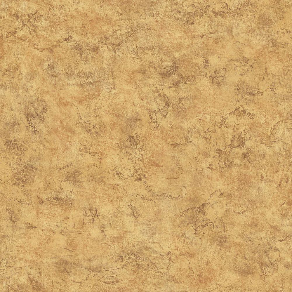 The Wallpaper Company 8 in. x 10 in. Yellow Venetian Plaster Wallpaper Sample