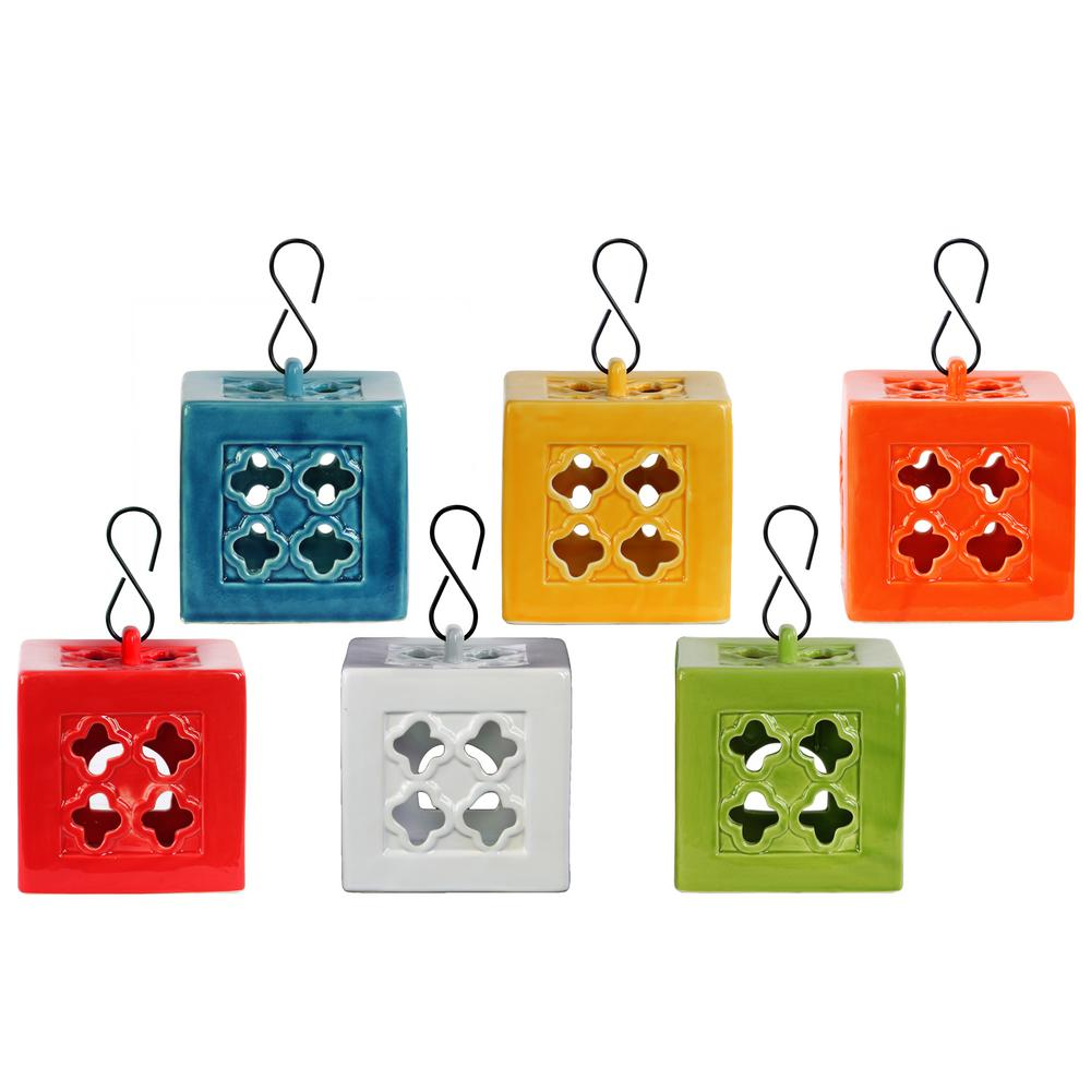 Multicolor Candle Ceramic Decorative Lantern