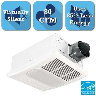 Radiance Series 80 CFM Ceiling Exhaust Bath Fan with Light and Heater