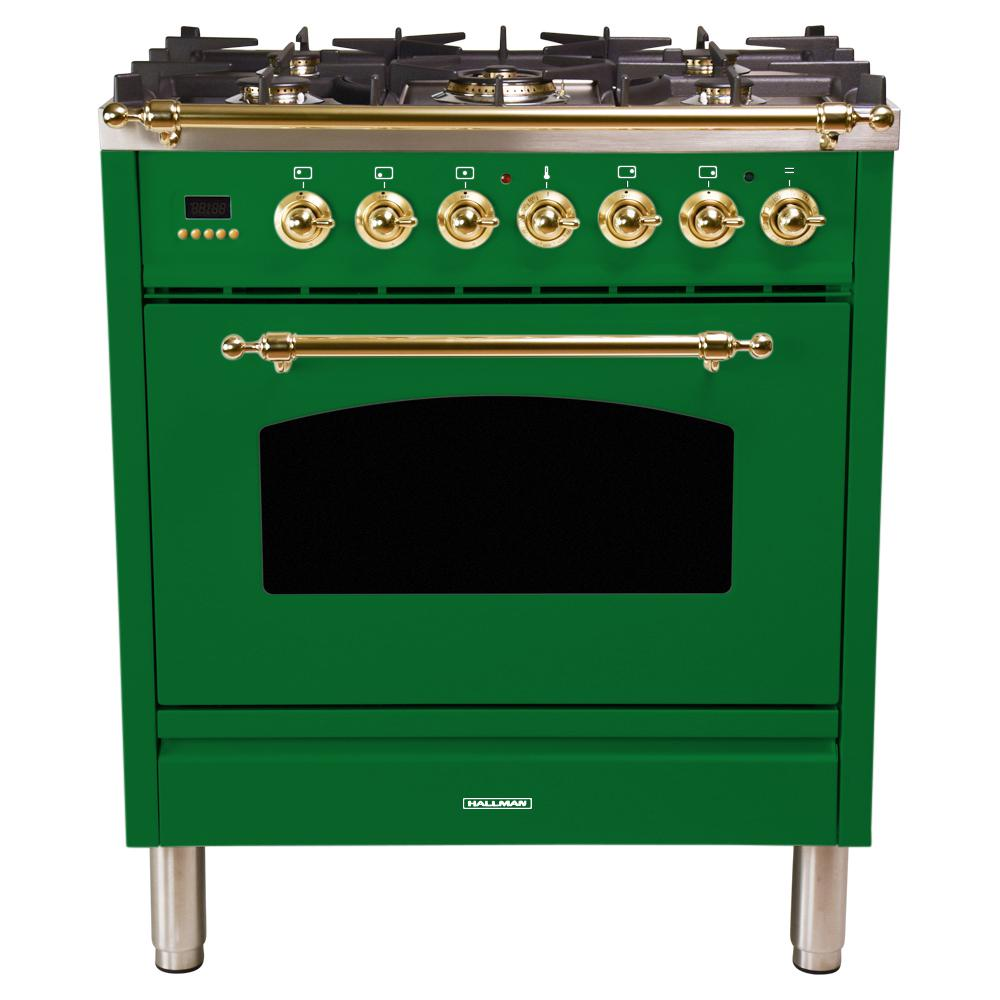 30 in. 3.0 cu. ft. Single Oven Italian Gas Range with