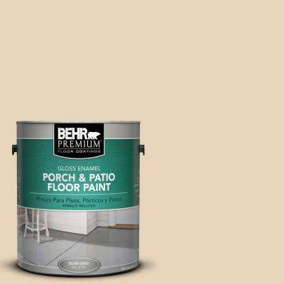 1 gal. #HDC-MD-17 Minimum Beige Gloss Interior/Exterior Porch and Patio Floor Paint