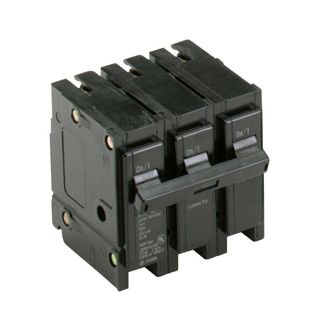 100 Circuit Breakers Power Distribution The Home Depot Three Pole Breaker Wiring Diagram Br 90 Amp 3
