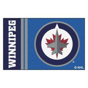 low priced 1b23c 48815 FANMATS NHL - Winnipeg Jets Blue 2 ft. x 3 ft. Indoor Area Rug-19281 - The  Home Depot