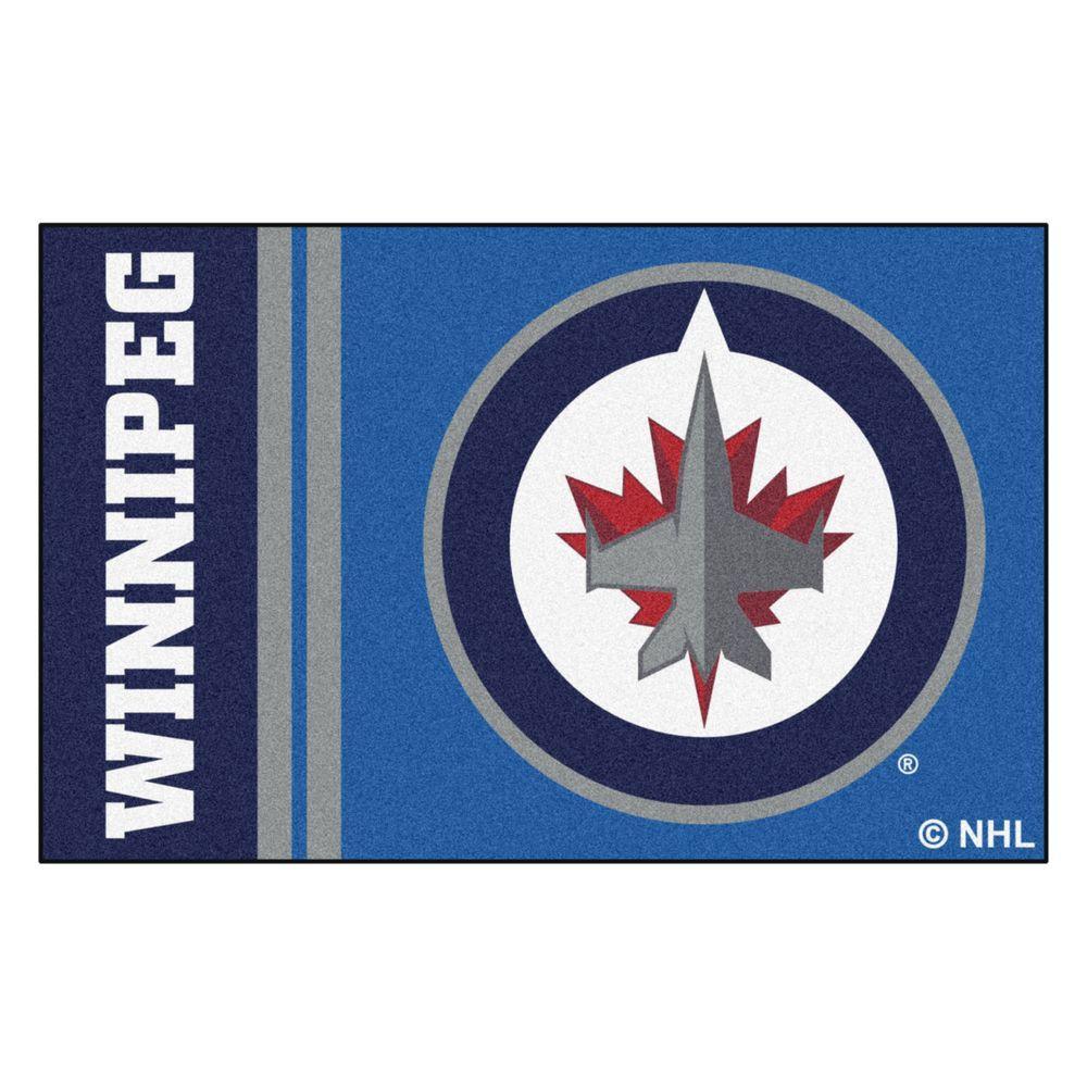 NHL - Winnipeg Jets Blue 2 ft. x 3 ft. Indoor Area Rug