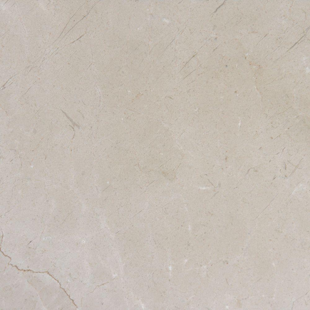 Msi crema marfil 12 in x 12 in polished marble floor and for What size ceiling fan for 12x12 room