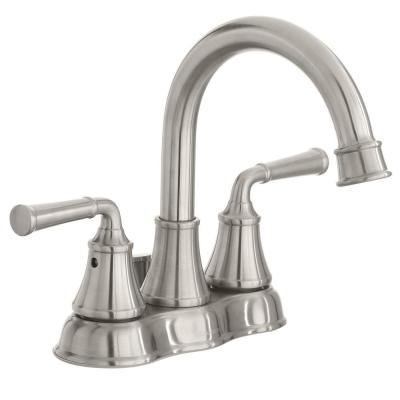 Dunston 4 in. Centerset 2-Handle High-Arc Bathroom Faucet in Brushed Nickel
