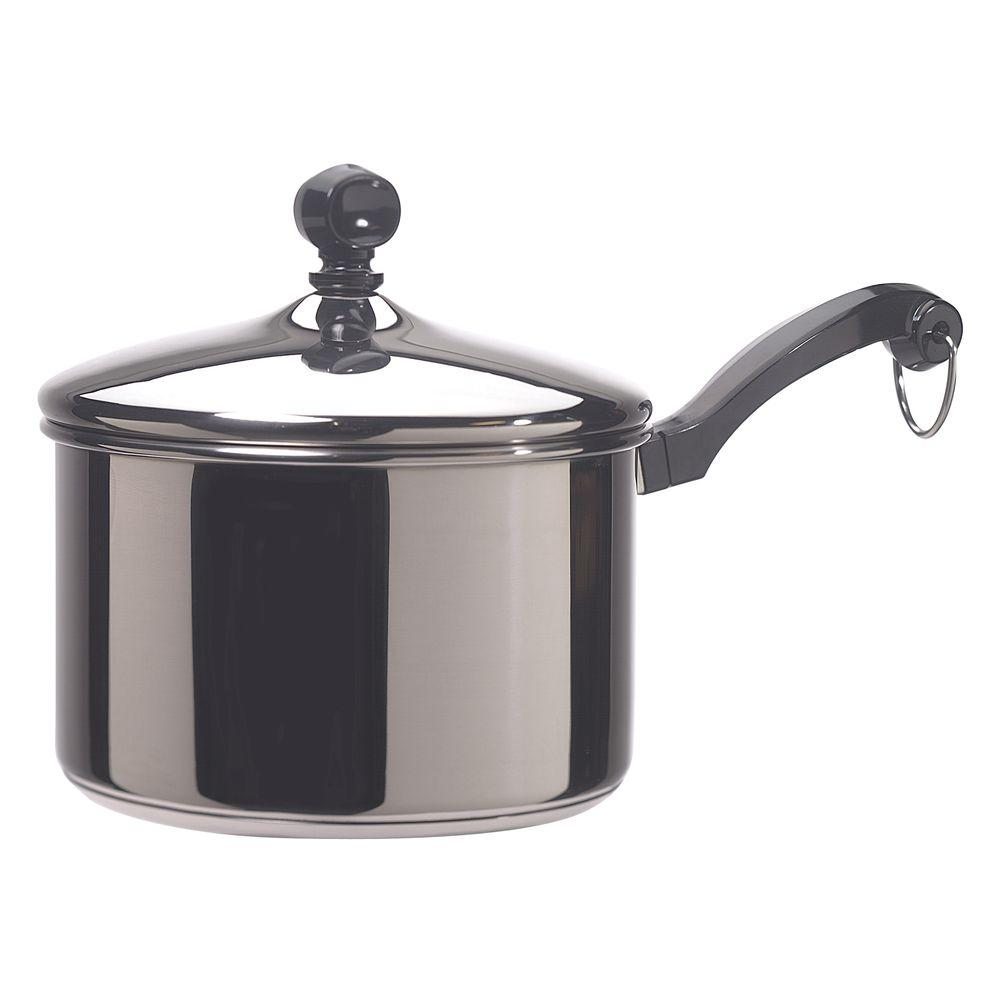 Classic Series 2 Qt. Stainless Steel Saucepan With Lid