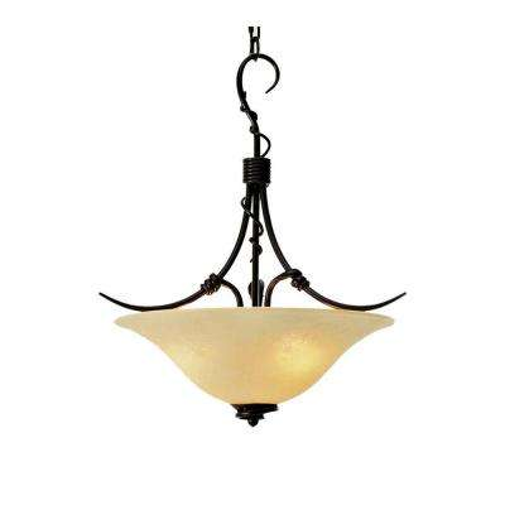 3-Light Golden Bronze Pendant
