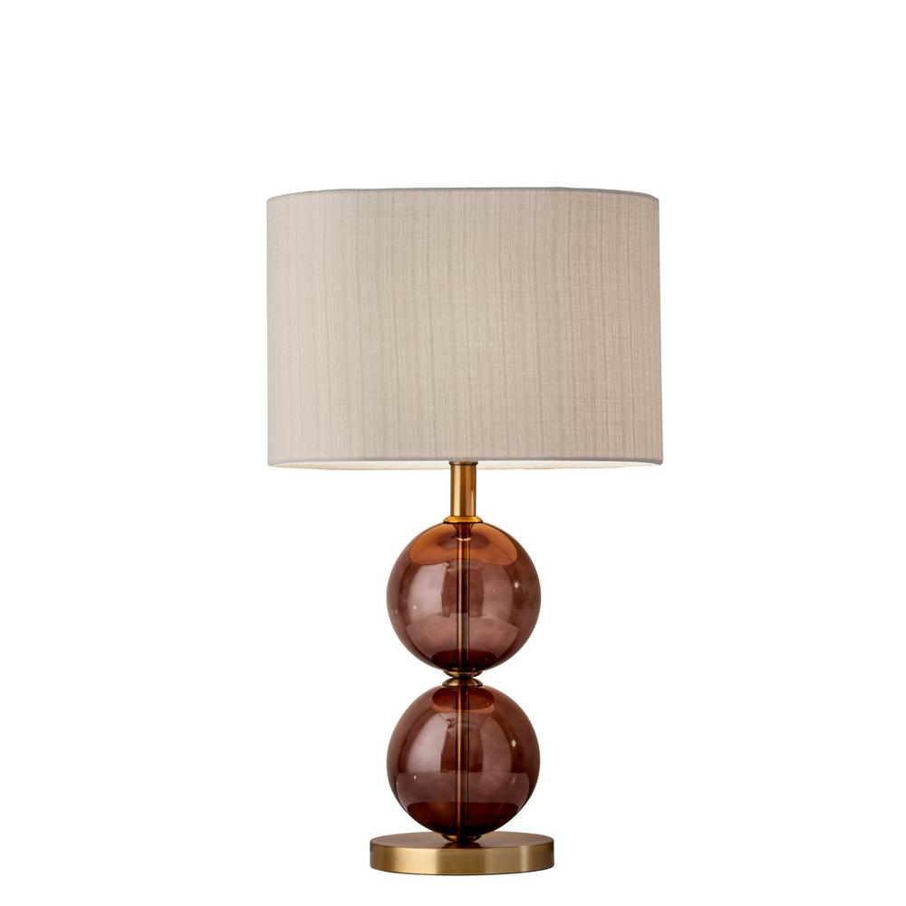 25 in brass table lamp 4148 21 the home depot brass table lamp mozeypictures Choice Image