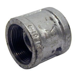 1 in. Galvanized Malleable Iron FPT x FPT Coupling