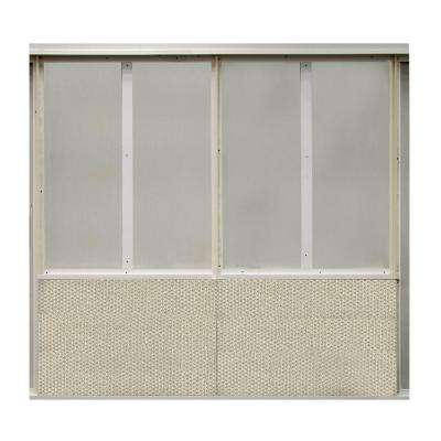20 sq. ft. Chrome Fabric Covered Bottom Kit Wall Panel