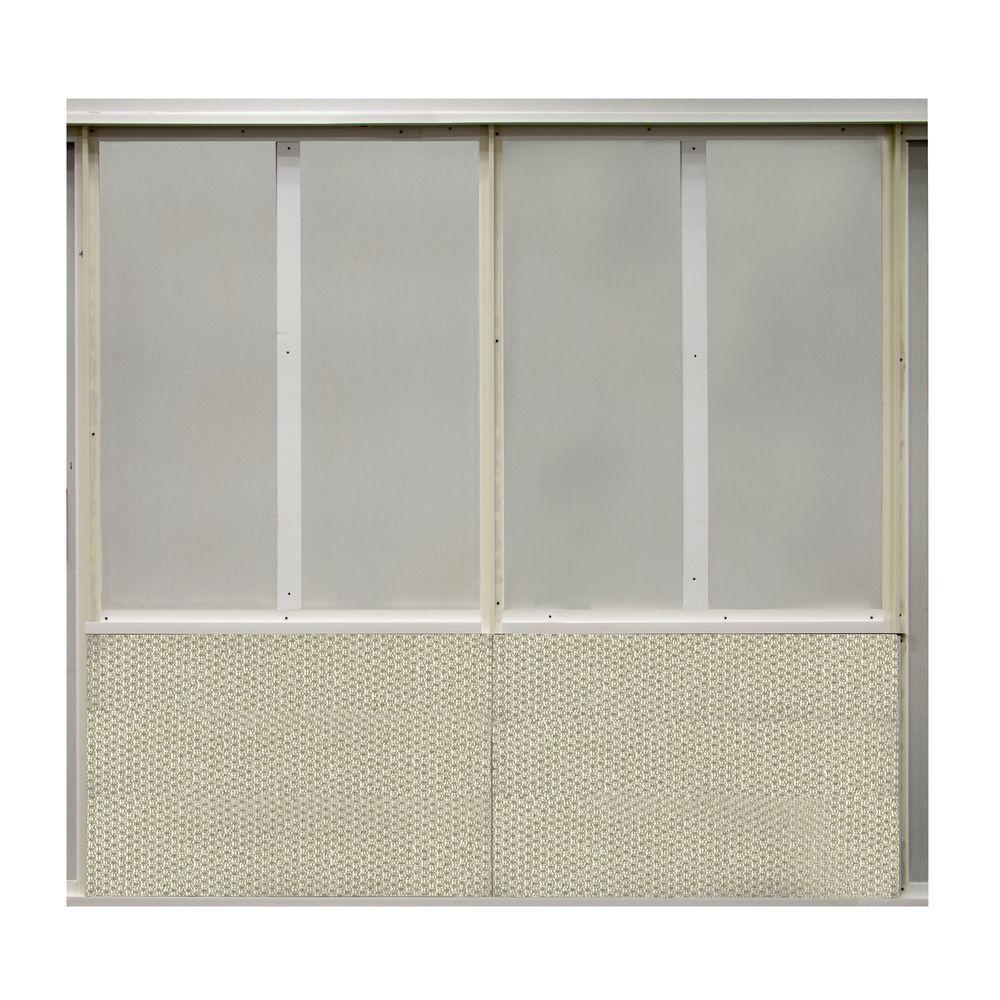 20 sq. ft. Chrome Fabric Covered Bottom Kit Wall Panel