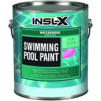 Insl X 1 Gal Semi Gloss Acrylic Black Waterborne Swimming Pool Paint Wr1020 The Home Depot