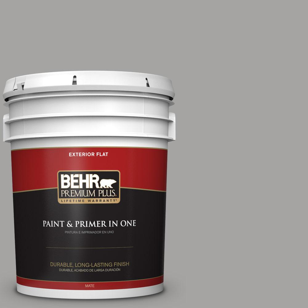 5 gal. #PPU26-07 Smokey Wings Flat Exterior Paint