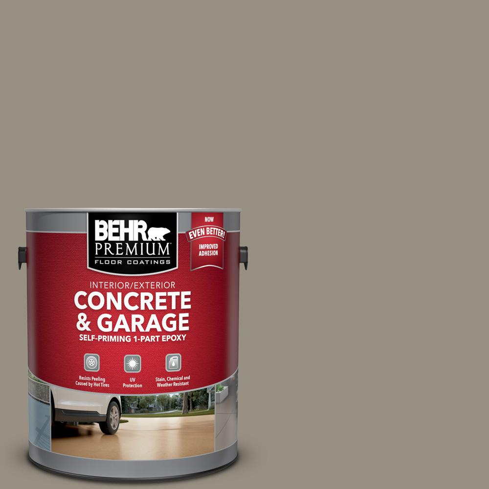 BEHR Premium 1 gal. #N320-5 Gray Squirrel Self-Priming 1-Part Epoxy Satin Interior/Exterior Concrete and Garage Floor Paint