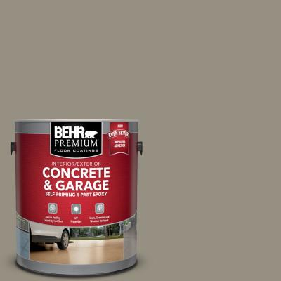 Behr Premium 1 Gal N320 5 Gray Squirrel Self Priming 1 Part Epoxy Satin Interior Exterior Concrete And Garage Floor Paint 90001 The Home Depot