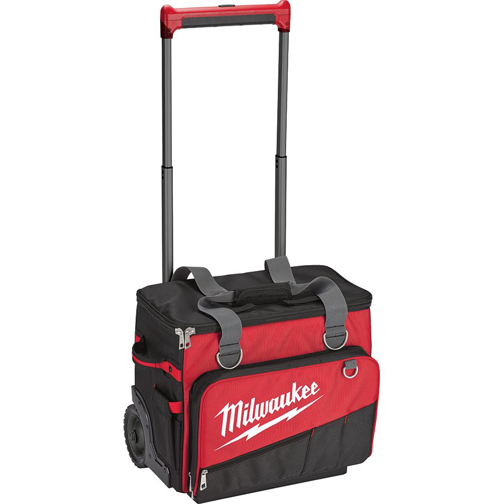 Milwaukee 18 in. Jobsite Rolling Bag, Red