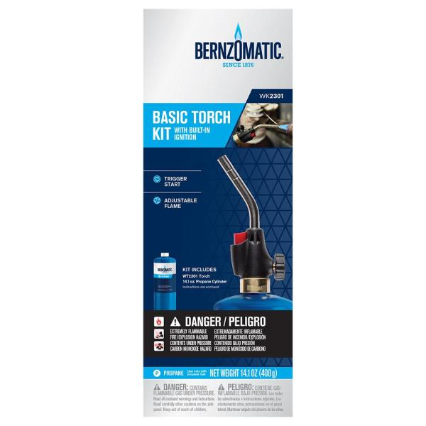 Bernzomatic Wk2301 Propane Torch Kit 333084 The Home Depot