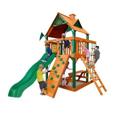 Chateau Tower Cedar Playset with Timber Shield Posts