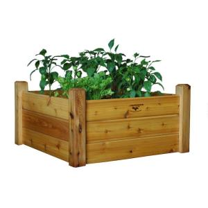 Gronomics 34 in x 34 in x 19 in safe finish raised - Safest material for raised garden beds ...