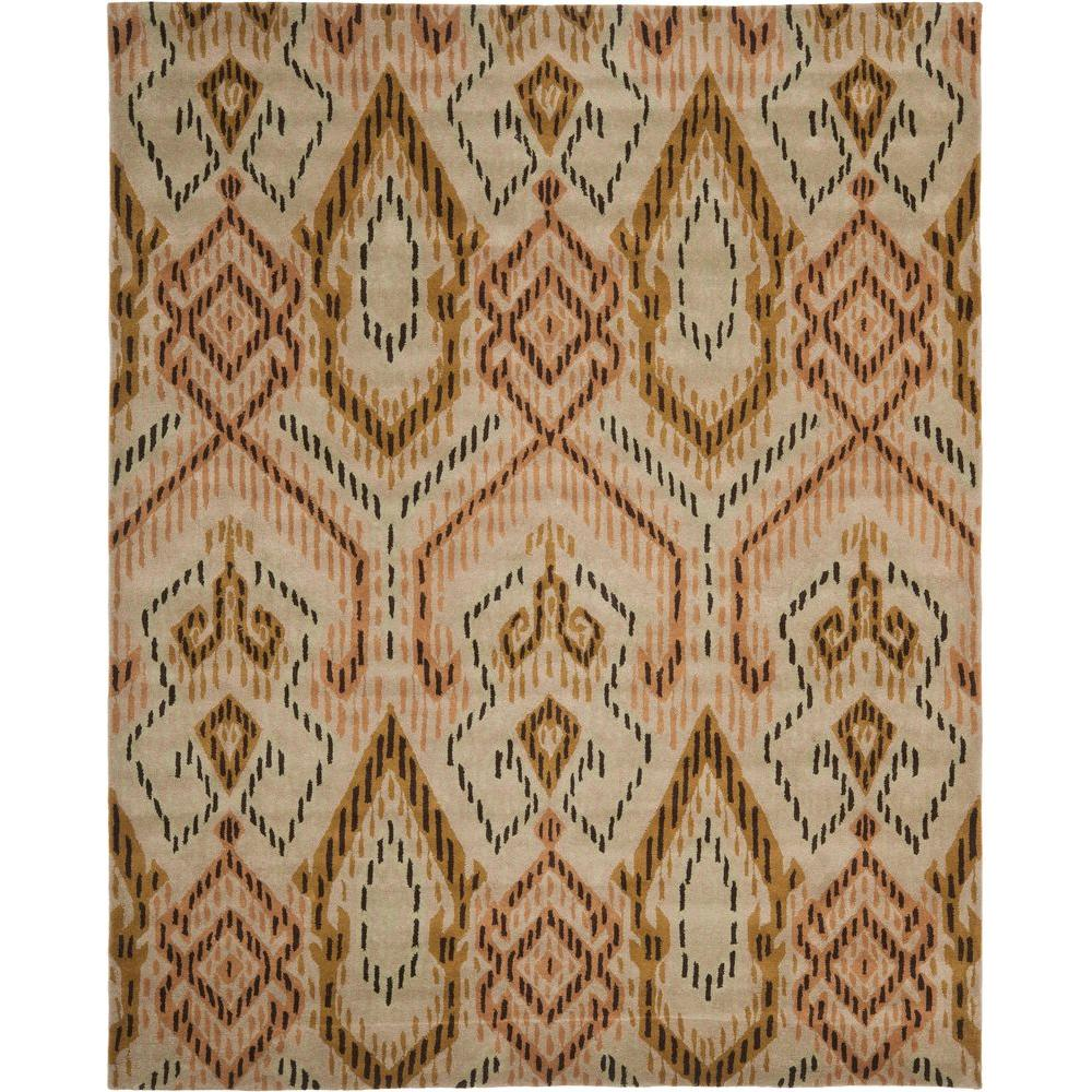 Wyndham Brown/Ivory 8 ft. x 10 ft. Area Rug