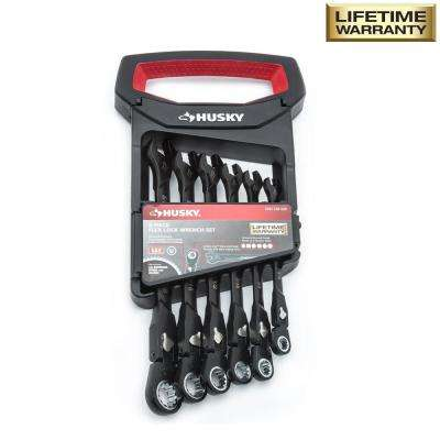 100-Position Flex-Head Ratcheting Wrench Set Metric (6-Piece)
