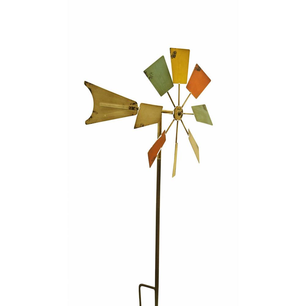 52 in. Multi-Color Metal Windmill Stake