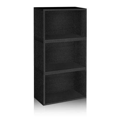 Hillcrest Eco zBoard Tool Free Assembly Black Stackable Modular Open Bookcase