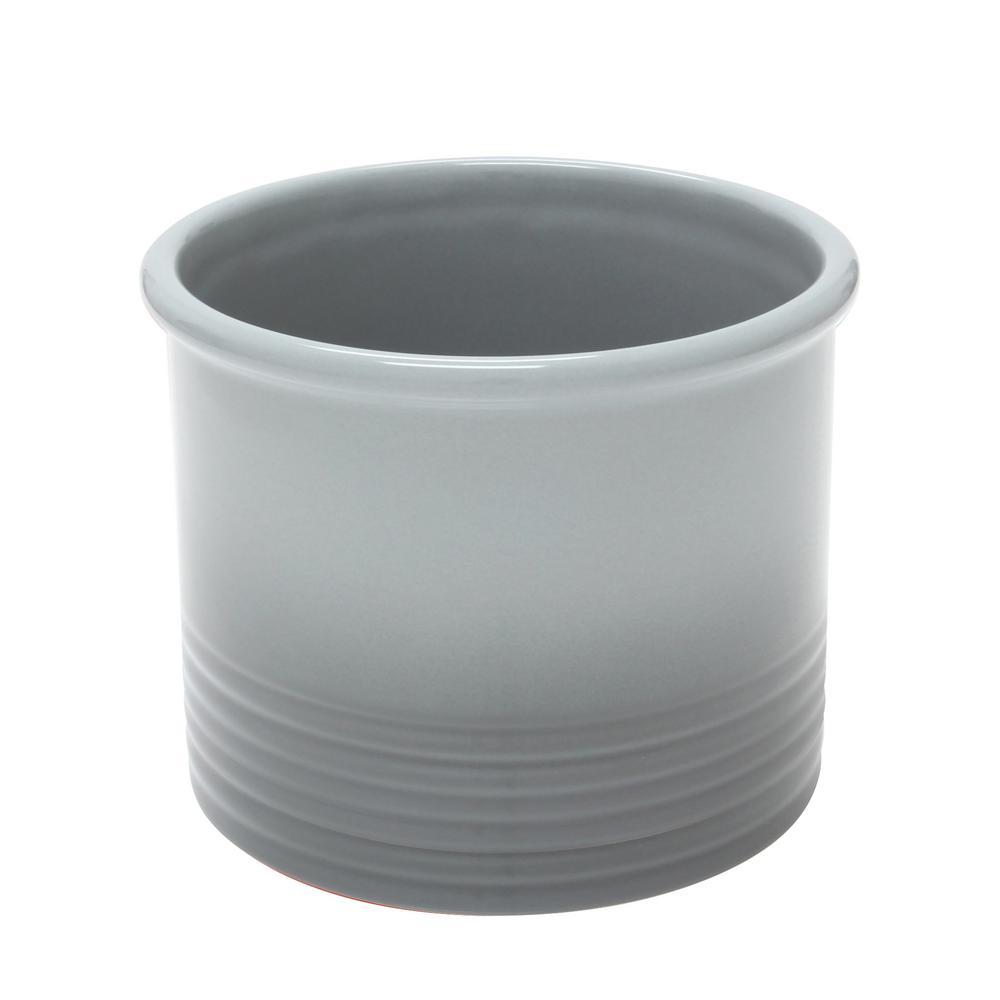 Chantal Fade Grey Large Ceramic Utensil Crock 92-19-R FG