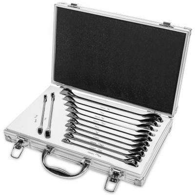 ELITE SAE and MM Combination Ratcheting Wrench Set (12-Piece)