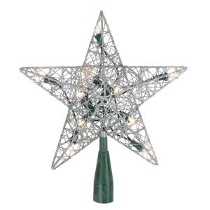 Gold Sparkle Star Christmas Tree Topper By Home Elements NIB 11.5