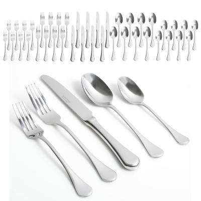 Classic Manchester 40-Piece Stainless Steel Flatware Set