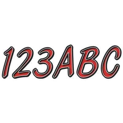 Series 400 Registration Kit Smooth Cursive Font with Left to Right Color Gradation in Red/Black